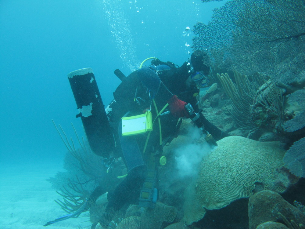 Drilling Coral for reconstructing historic OA - HOg Reef Bermuda