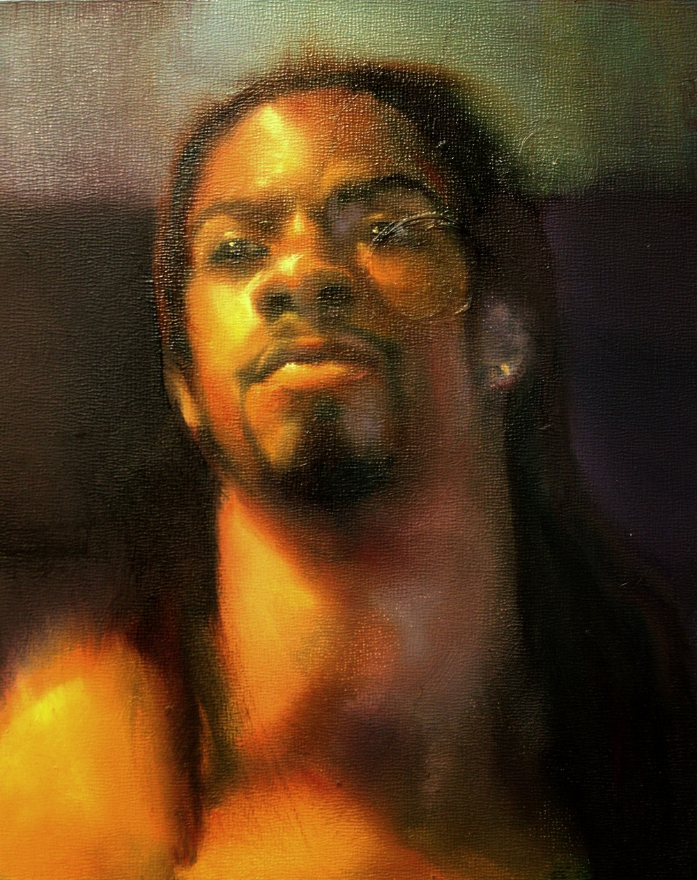 "Kevin, oil on wood panel, 12"" x 8"", 2015"