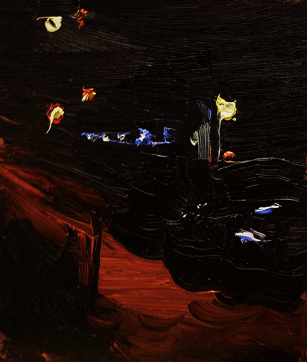 """Nocturne 1, oil on copper, 3"""" x 2"""" (sold)"""