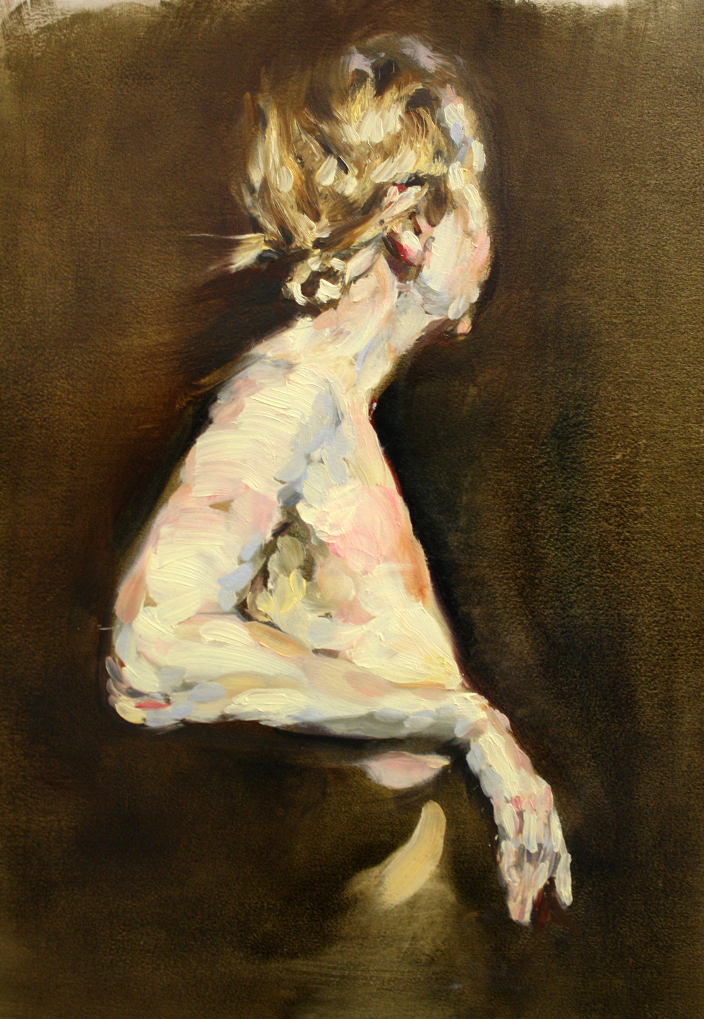 "Annabelle , oil on paper, 20"" x 18"", 2016 (sold)"
