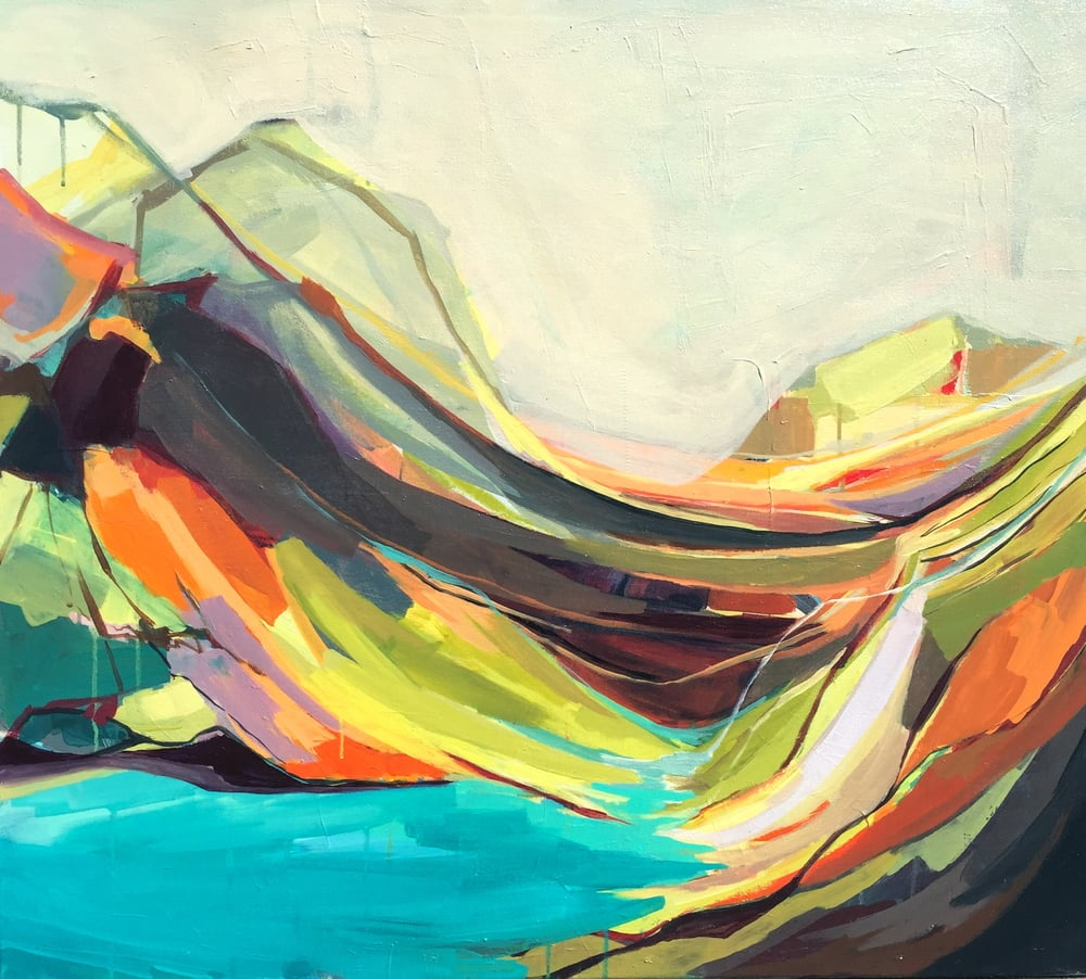 """Mount Desert Isle,"" Amanda Hawkins, Acrylic on canvas. 34x36 in.  Photo courtesy of http://www.amandakhawkins.com/"