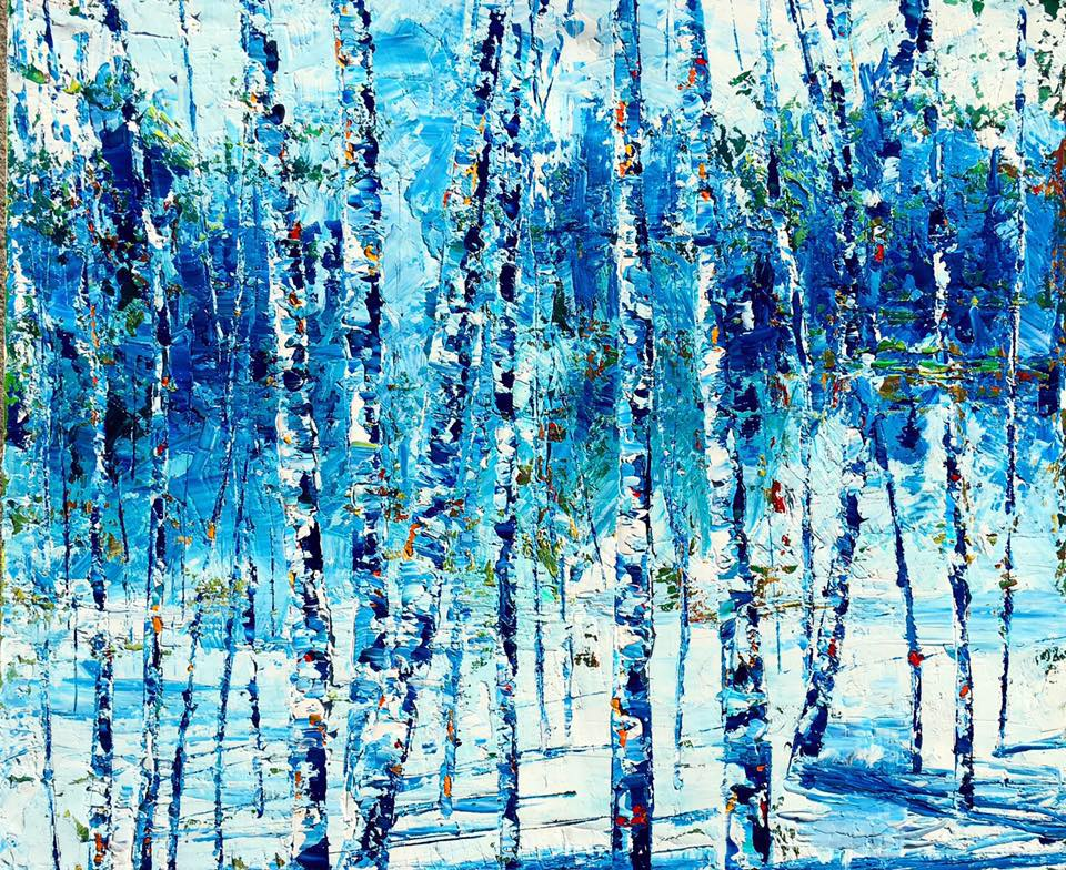 Winter Birch Series 1 , 2016   Oil on canvas 20 x 24 in