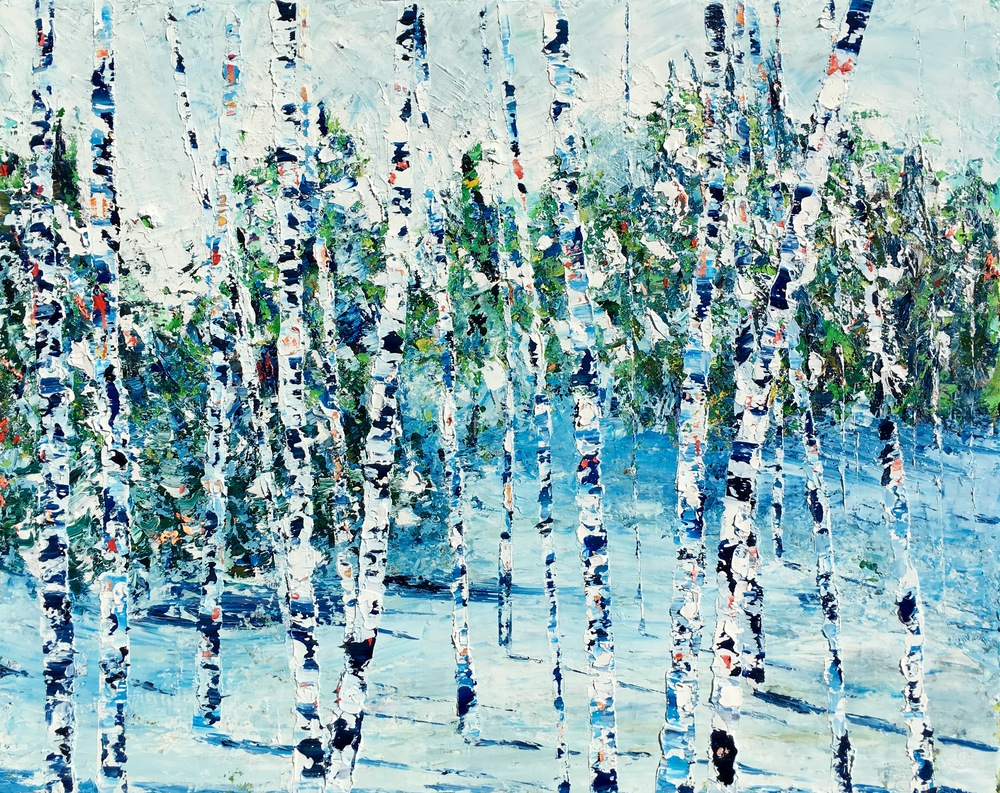 <b>Birch Series 7</b><br>Oil on canvas<br>24 x 30 in.