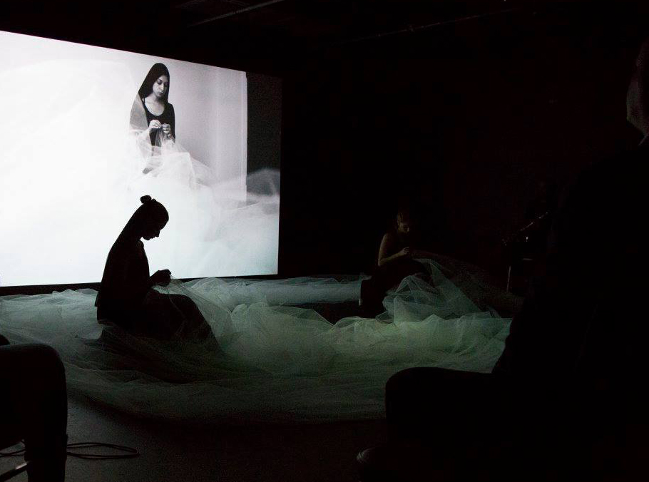 "The Safarani Sisters performing ""Cocoon"" at the Boston Center for the Arts"