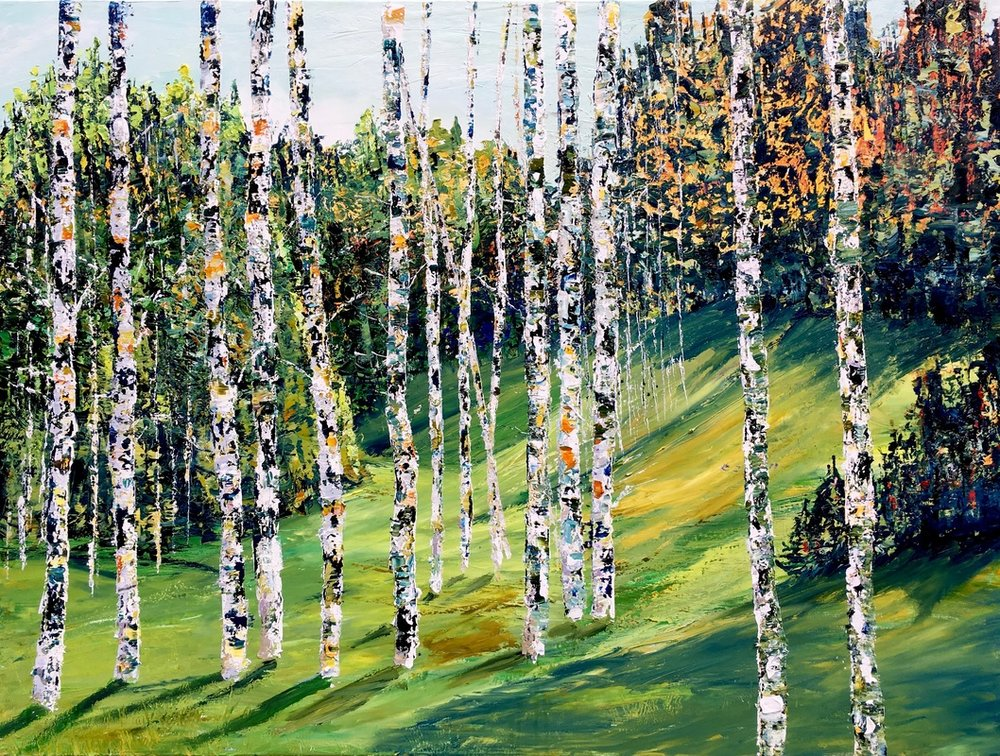 <b>Autumn Hill</b><br>Oil on linen<br>30 x 40 in.