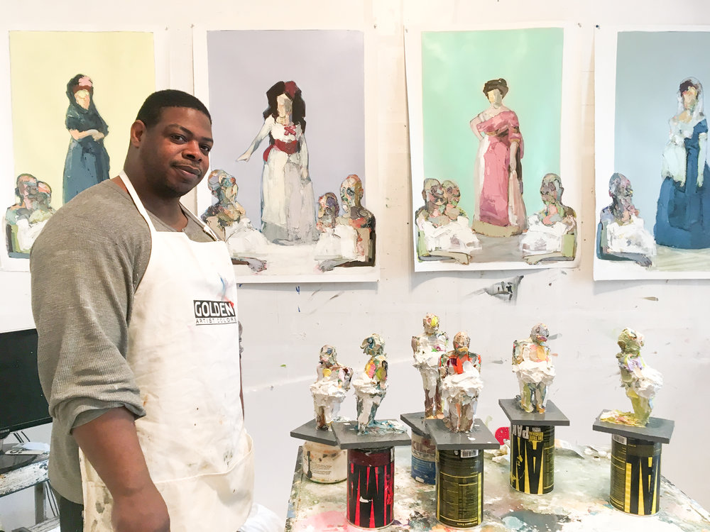 Lavaughan Jenkins in his Roxbury studio