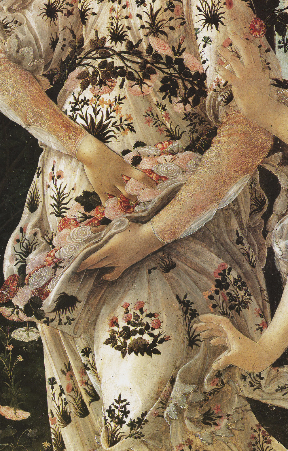 Detail of Sandro Boticelli's  Primavera   Source