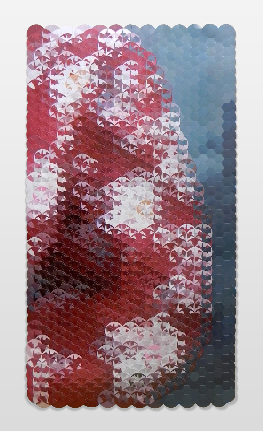 <b>Red Blouse with White Flowers </b><br>Archival Photographic Reconstruction<br> 55 x 30 in. (framed)