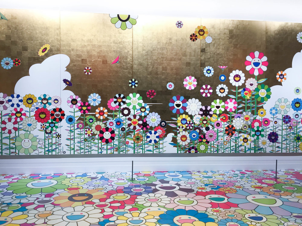 Detail of: Takashi Murakami,  Kawaii-Vacances (Summer Vacation in the Kingdom of the Golden) ,  2008.