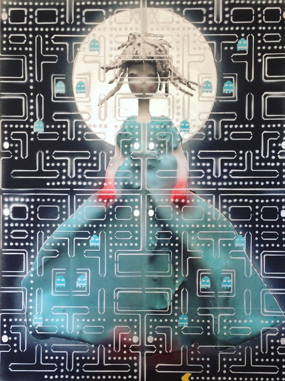 <b>pamela (blue ghost)</b><br>40 x 30 in.
