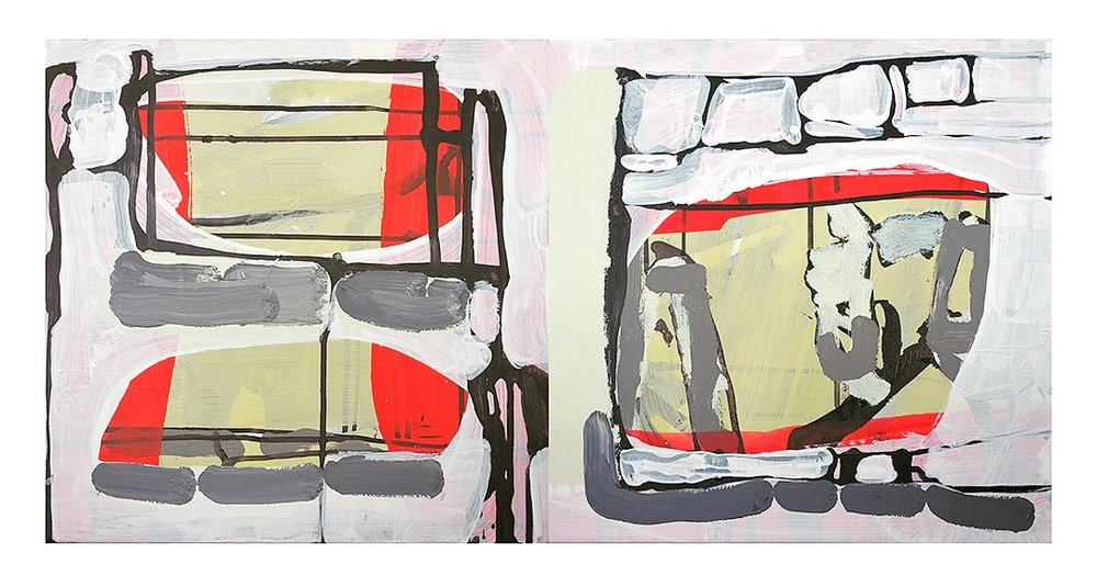 <b>Hong Kong</b><br>16 x 32 in.<br>Diptych