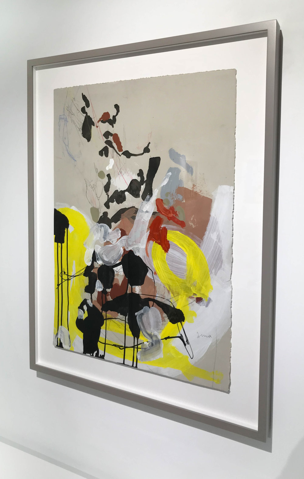 Anna Schuleit Haber,  Electrologe , Mixed media on paper, framed, 37 x 29.5 in.