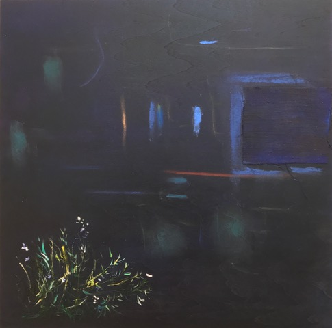 <b>Nocturne</b><br>Acrylic, oil and linen on panel<br>10 x 10 in