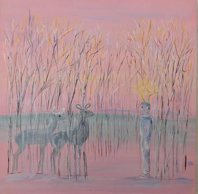 Eustace and the Deer II, Donna Moylan