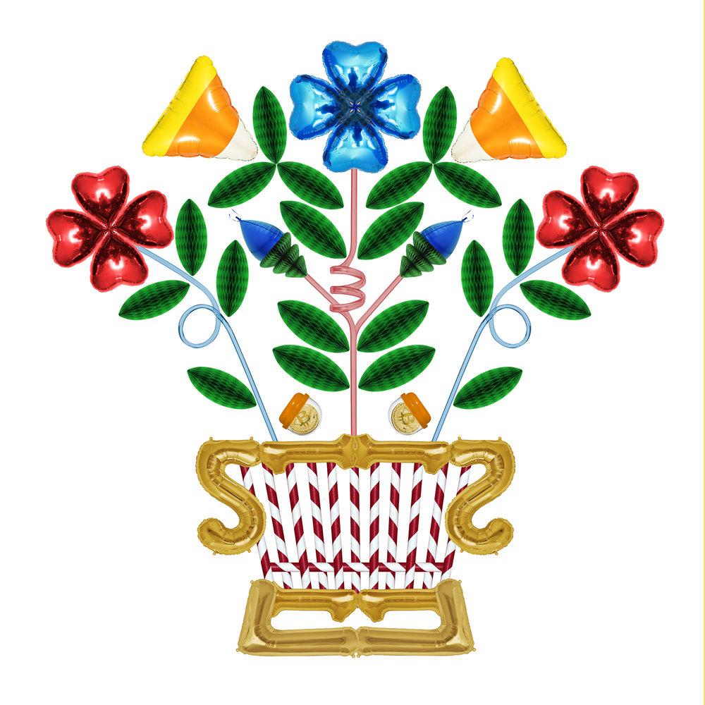 <b>Flower Basket</b><br>Archival inkjet print on cotton rag<br>24 x 24 in.