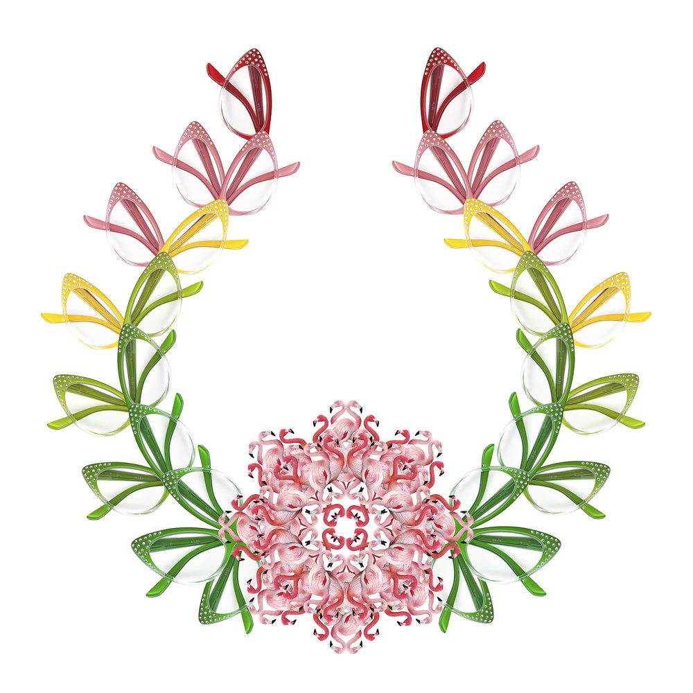 <b>Wreath</b><br>Archival inkjet print on cotton rag<br>24 x 24 in.