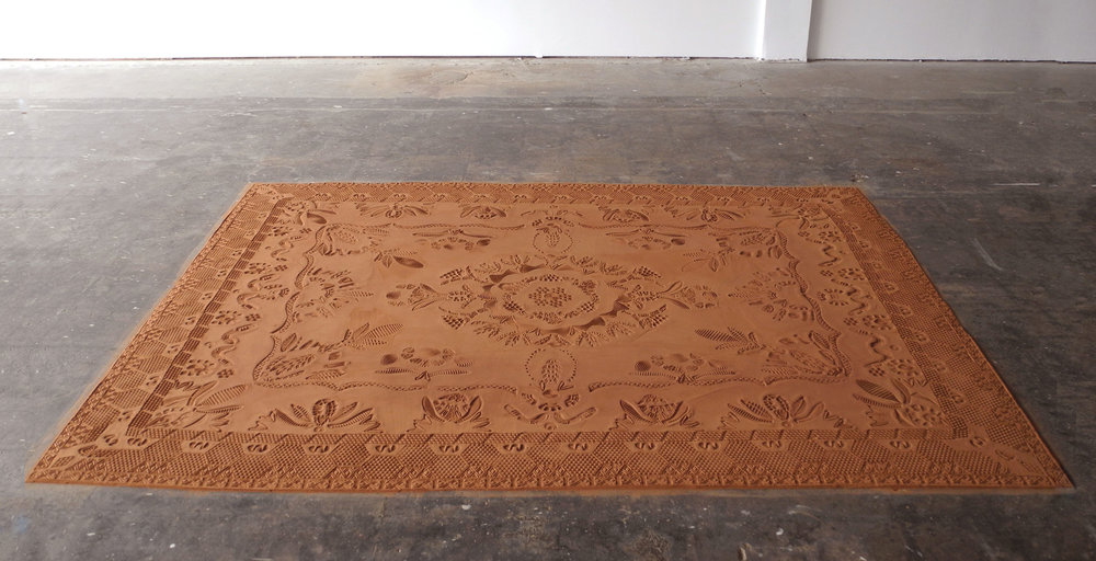 Completed Red Dirt Rug. Photo by: Mark Andrus