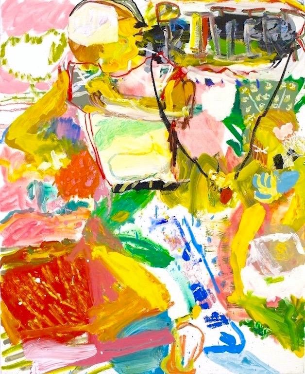 <b>Pocket Presence</b><br>Acrylic on canvas<br>60 x 48 in.