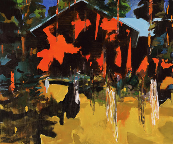 Eric Aho  Wilderness Studio (Summer)  Oil on linen 50 x 60 in.