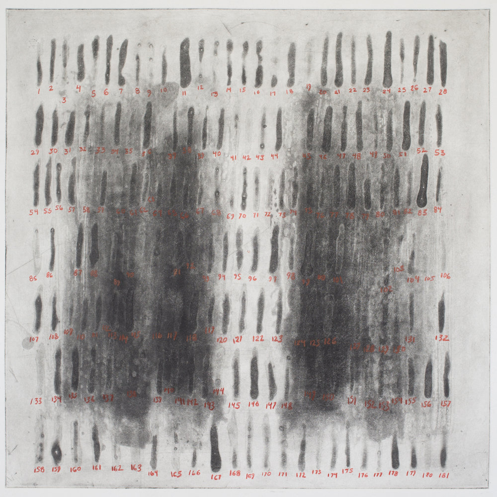 One Hundred Eighty-One Marks over Two Dark Fields in a Square, Damon Campagna