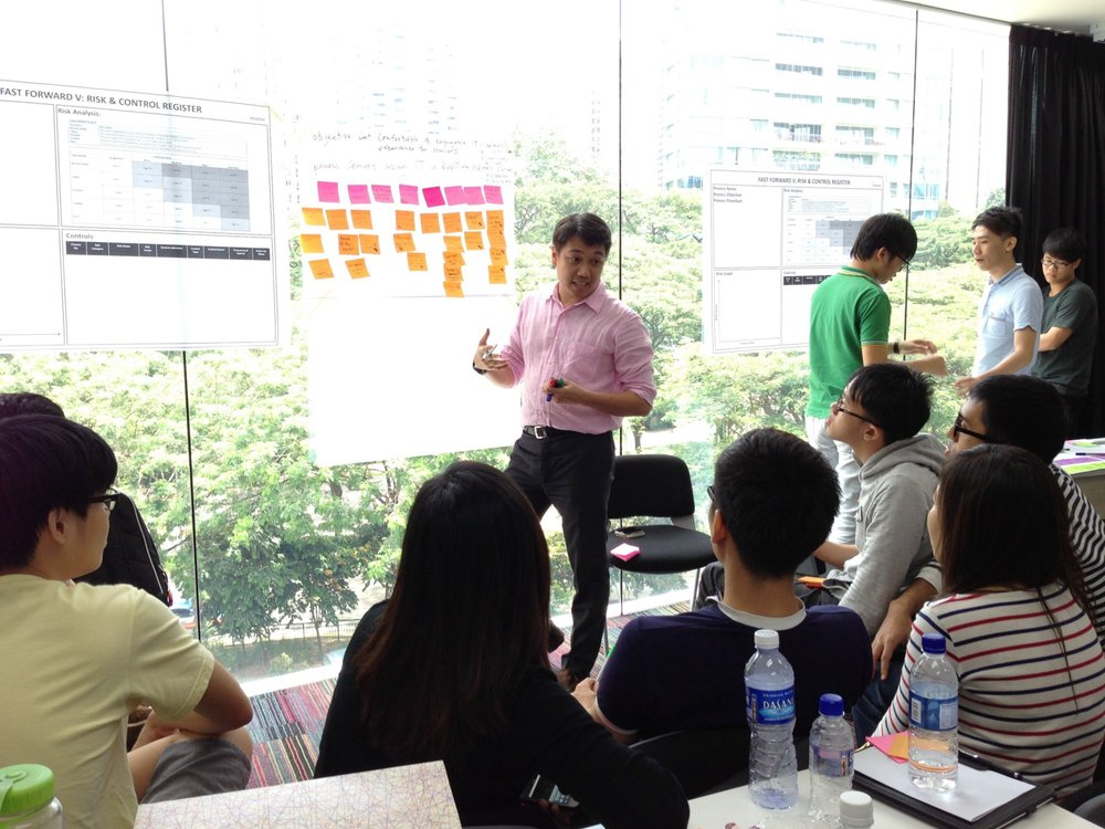 Daniel Tan conducting a workshop for Fast Forward.