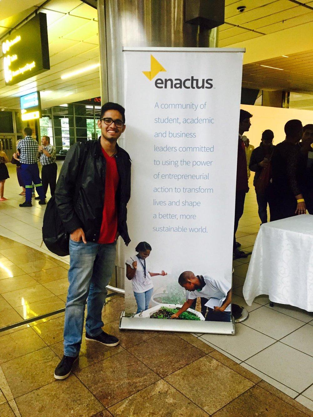 Daksh Arora at Enactus World Cup 2015