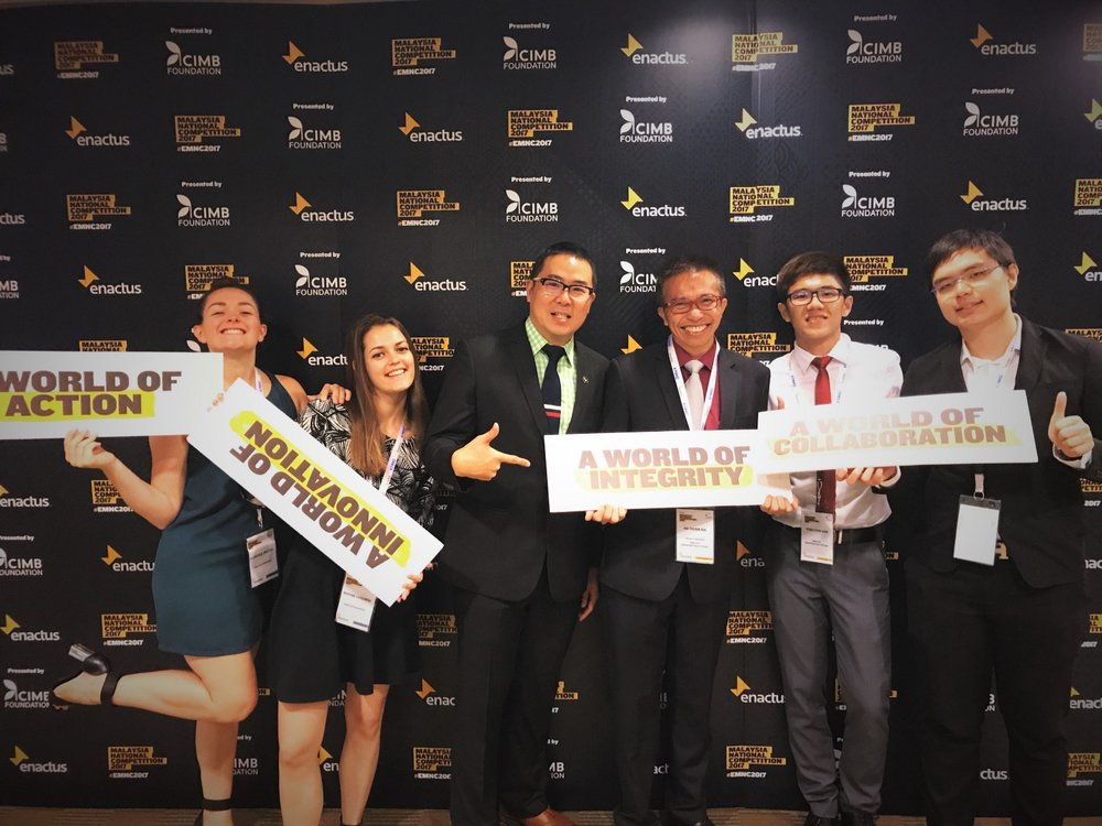 Team Enactus Singapore supporting Enactus Malaysia National Competition 2017.