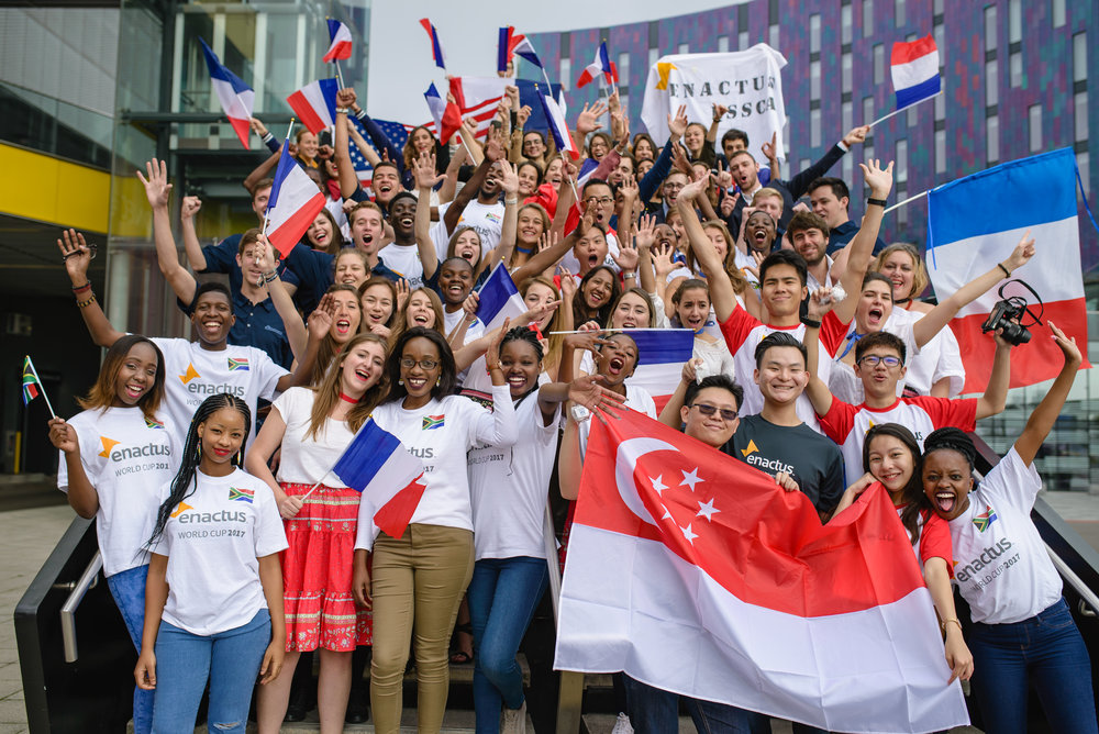 Team Singapore with Team South Africa and Team France!