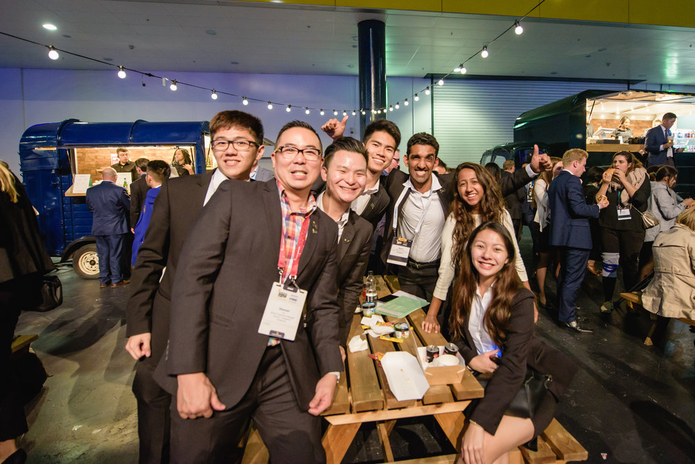 Team Singapore at Enactus World Party With a Purpose