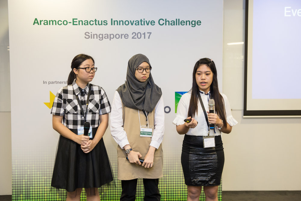 Team Answersheet from SUSS pitching their idea at the Singapore Finals