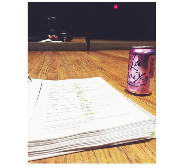 Me, my script and my study buddy La Croix