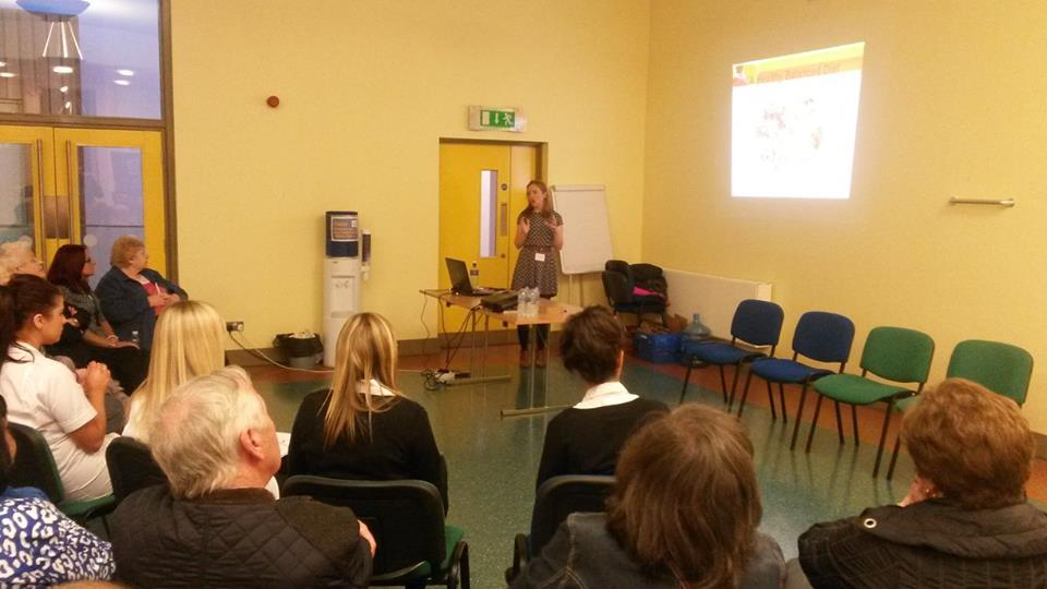 Dietitian: Katie Hunter.   She discussed the importance of a healthy lifestyle and how to eat well and still enjoy your diet.