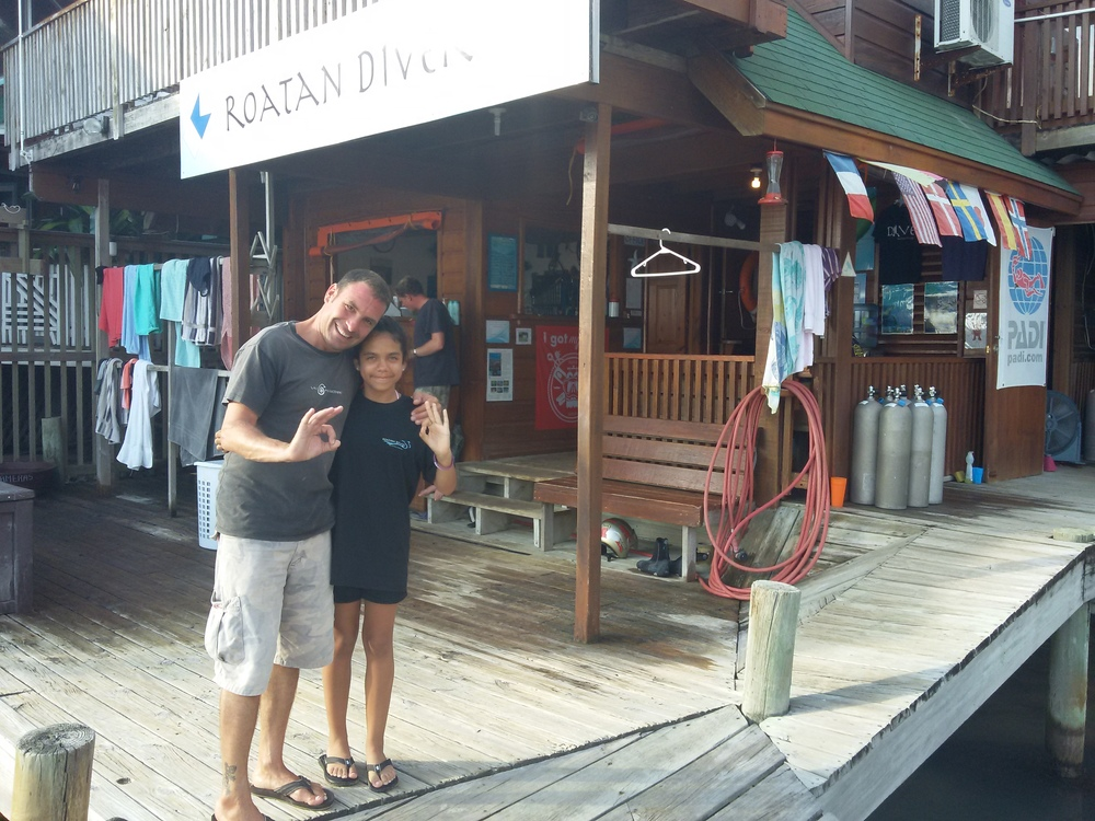 After the final dive of the PADI Open Water Diver course!