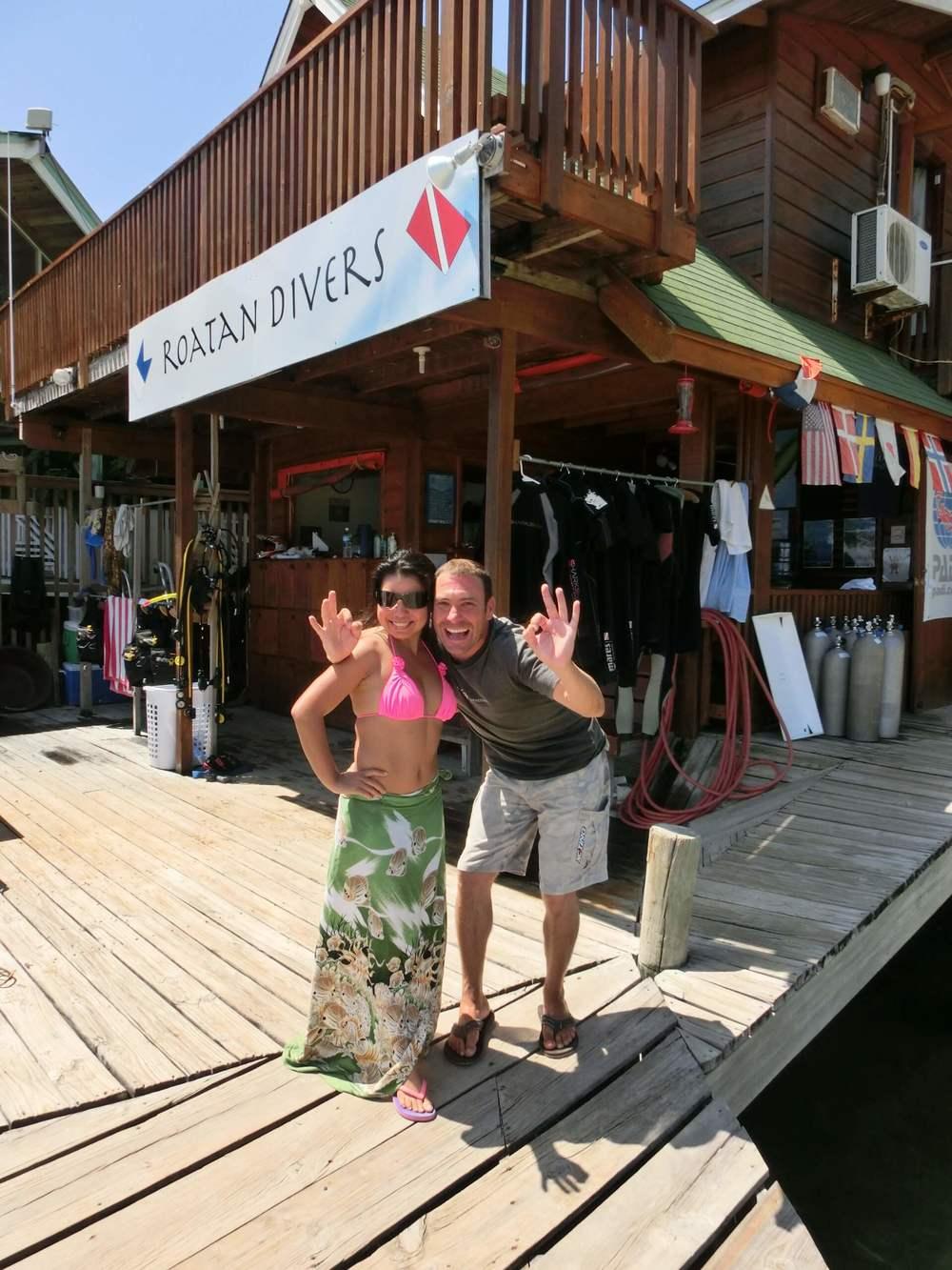 Bernadine PADI Open Water Roatan Divers