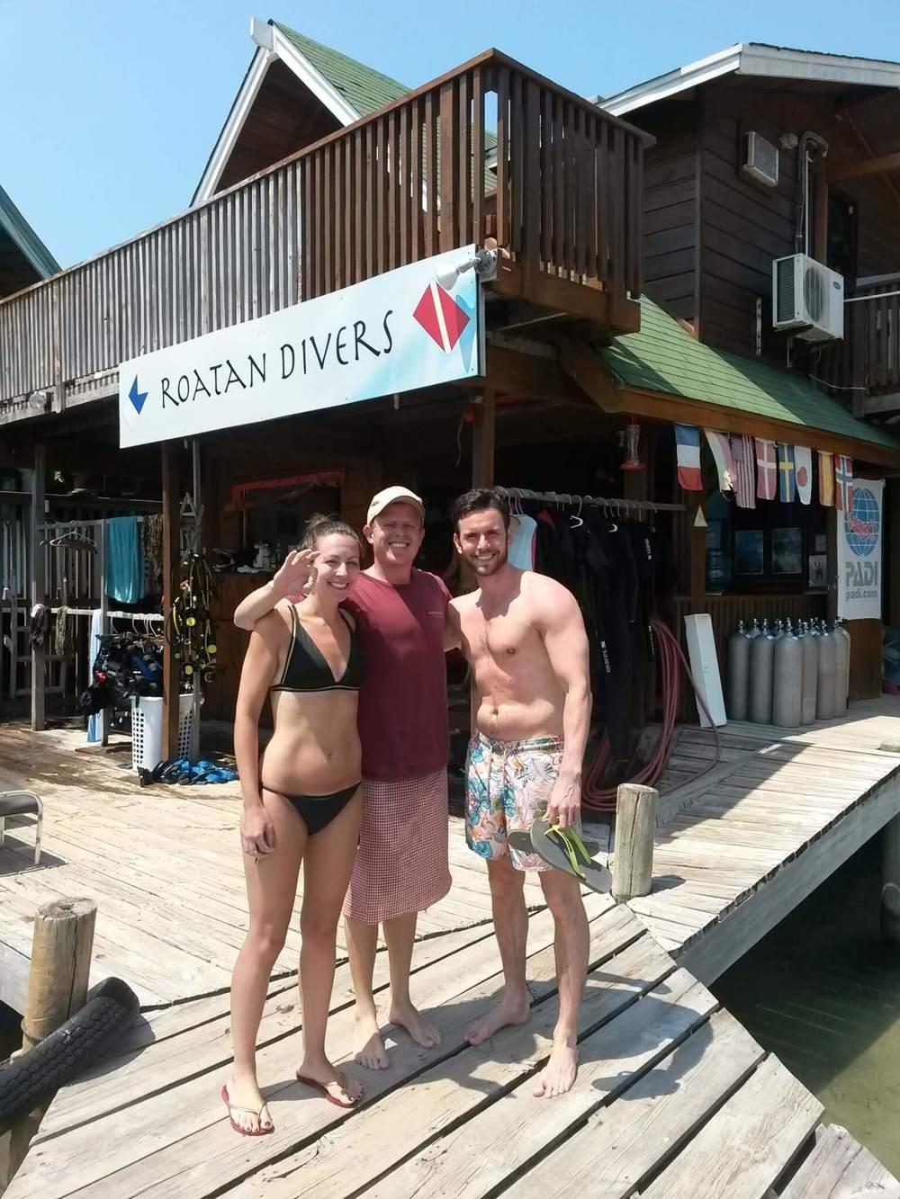 Louise Alex PADI DSD Roatan Divers