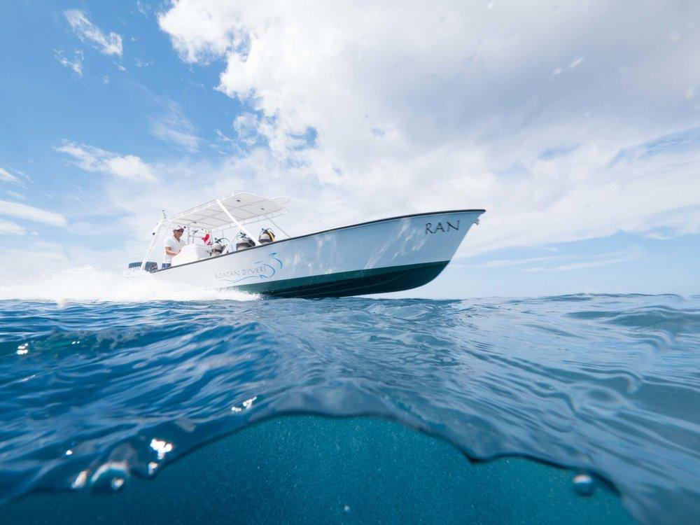 Roatan Divers boat, Ran