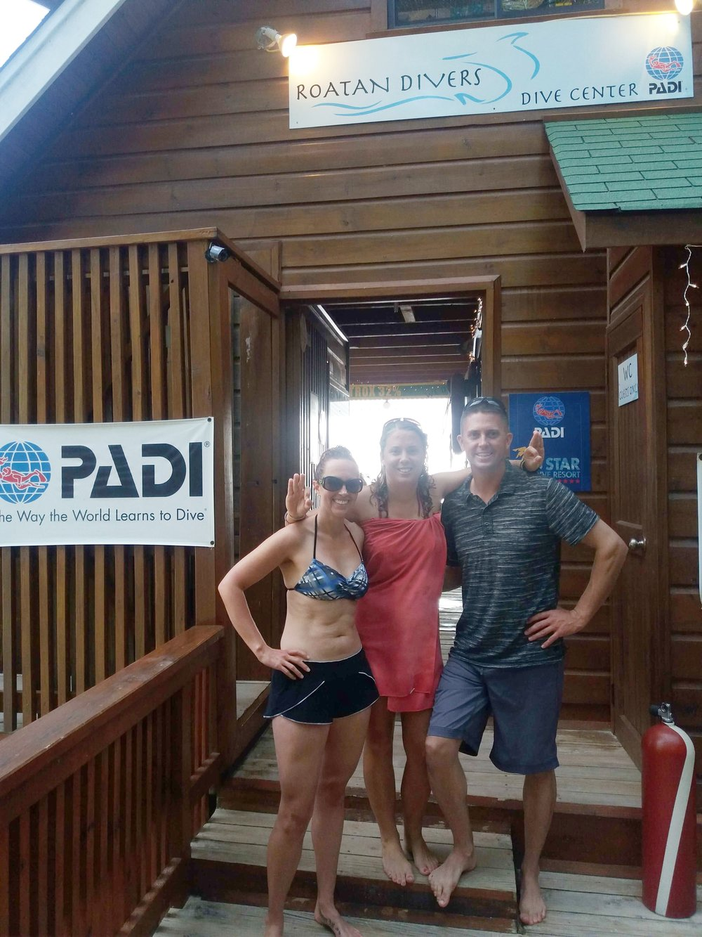 PADI Open Water Diver referral Roatan