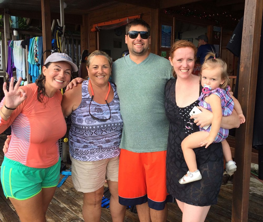 family friendly dive center Roatan Divers