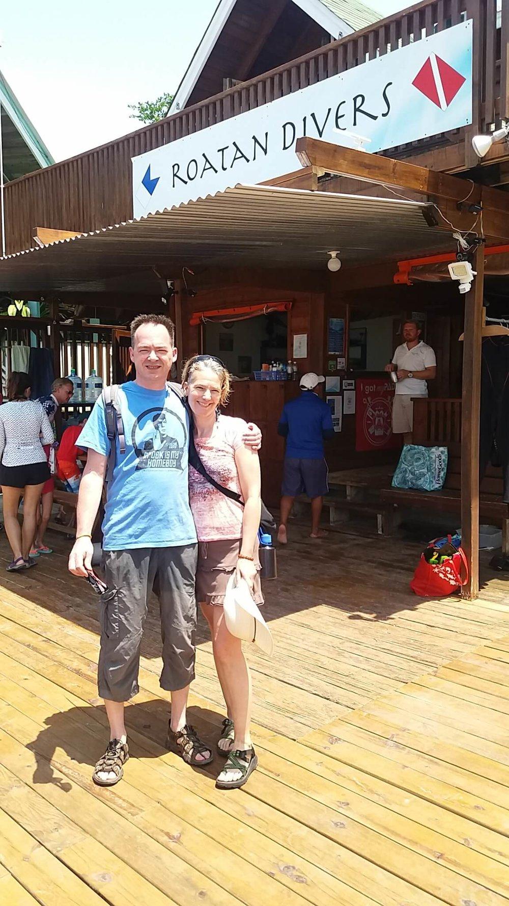 try PADI scuba diving Roatan Divers