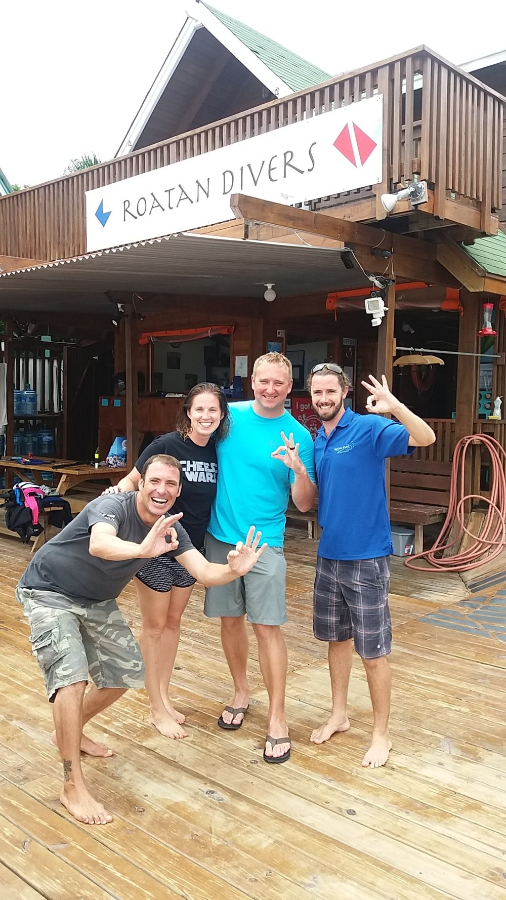 padi advanced open water divers roatan