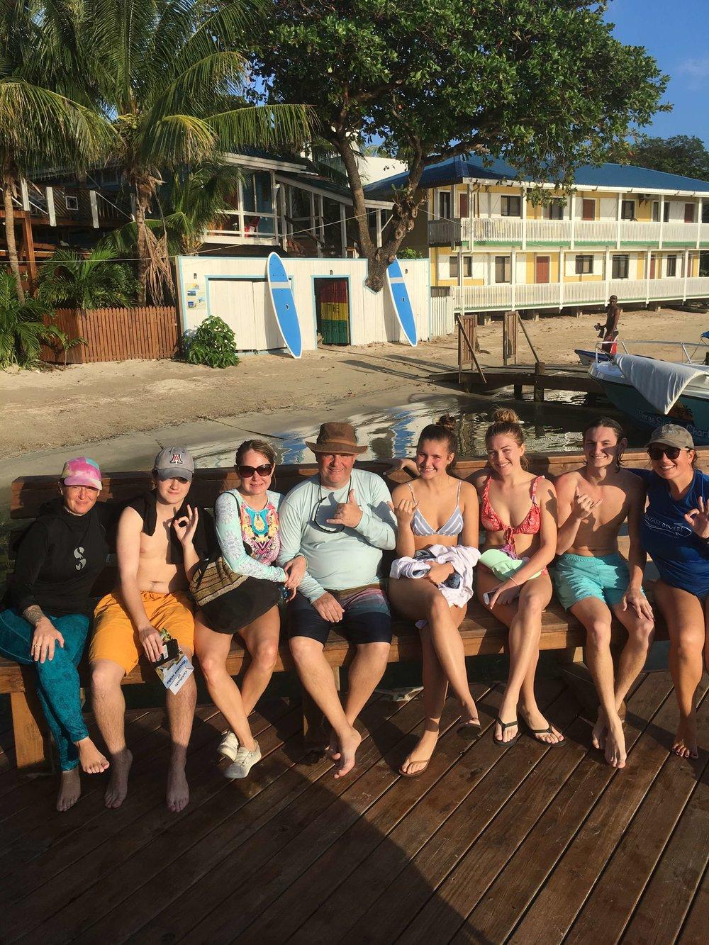 Robert, Michelle, Kristofer, Matthew, Isabelle, Danielle tried scuba diving!
