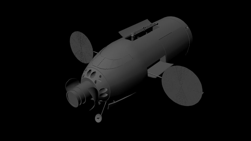 The cockpit and mission module can become a separate spacecraft in orbit.  (Early concept model).