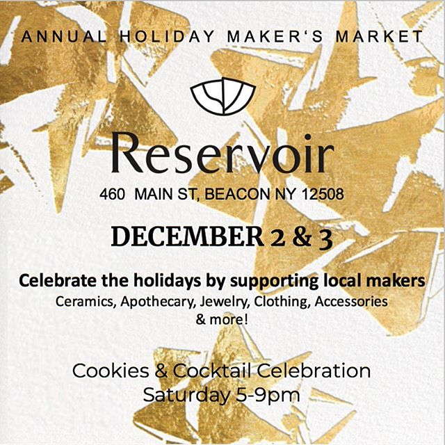 Peep some of our new products at @shop.reservoir's holiday Maker's Market this weekend.