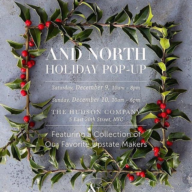 City folk! Tonight we're at the @andnorth holiday market at @thehudsoncompany showroom in Manhattan. Come by, say hi, get fly. 7-10pm #holidayseason #getfly