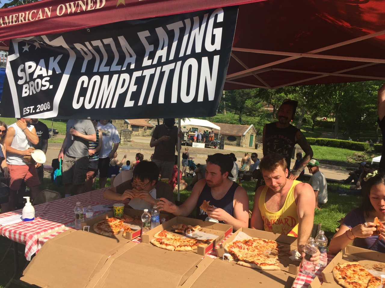 The Spak Bros. pizza eating competition got too real.