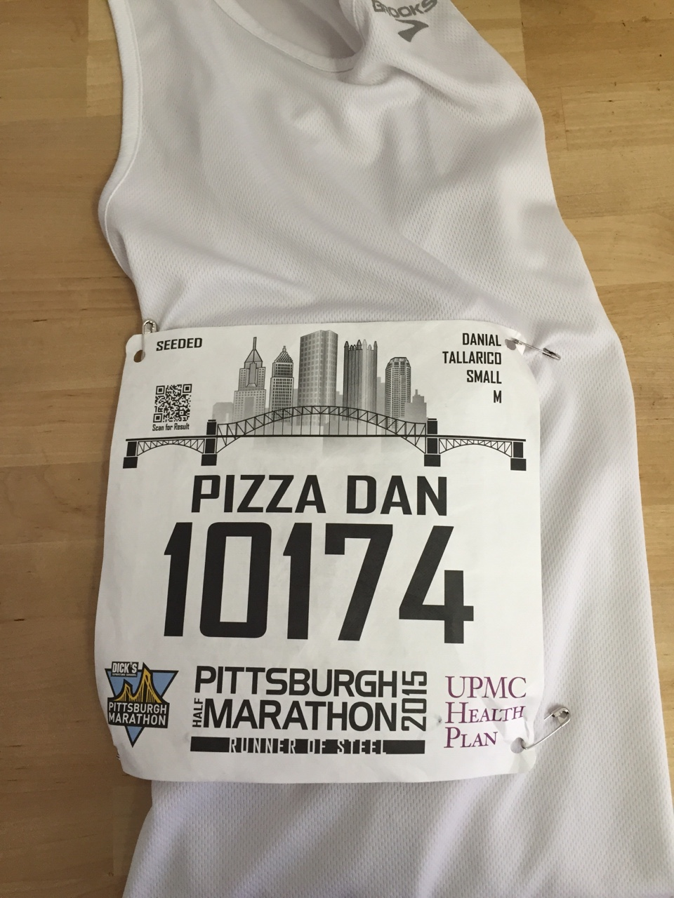 Pizza Dan is back in action. Look for me in tomorrow's Pittsburgh Half Marathon!