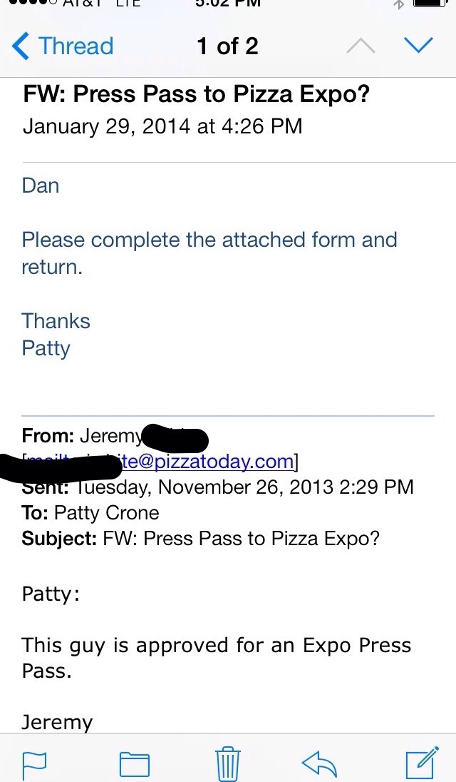 Pizza journalist.