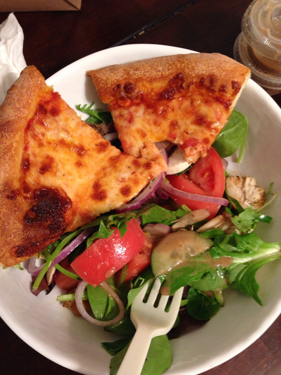 Pizza salad.