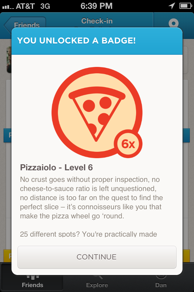 Nice of Foursquare to acknowledge my pizza prowess.