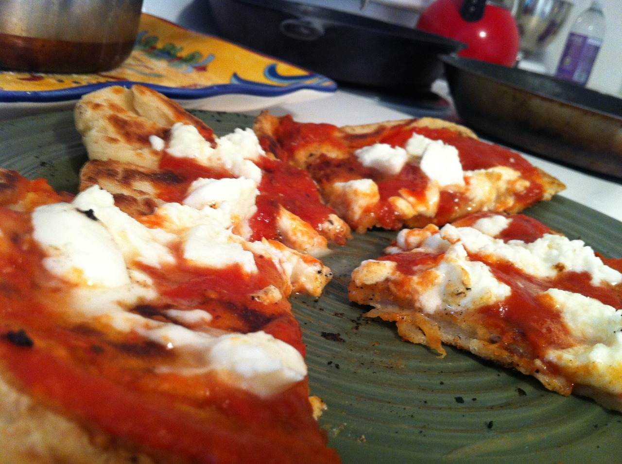Some fried pizza I cooked up with some leftover dough. Stay tuned for a pizza play-by-play.